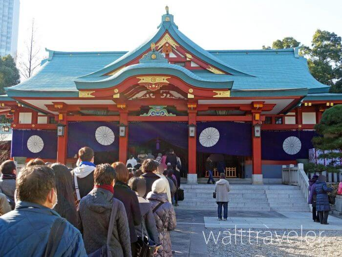 日枝神社の初詣2020年!混雑状況・参拝時間・御朱印は?