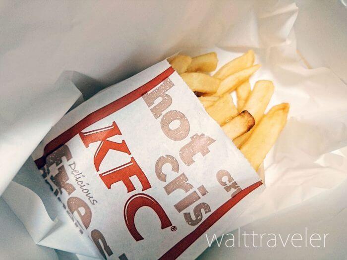 【フライドポテト】KFCのフライドポテトは太めでじゃがいもを感じられる