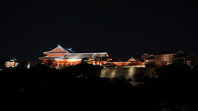 首里城跡 首里城公園 ライトアップ