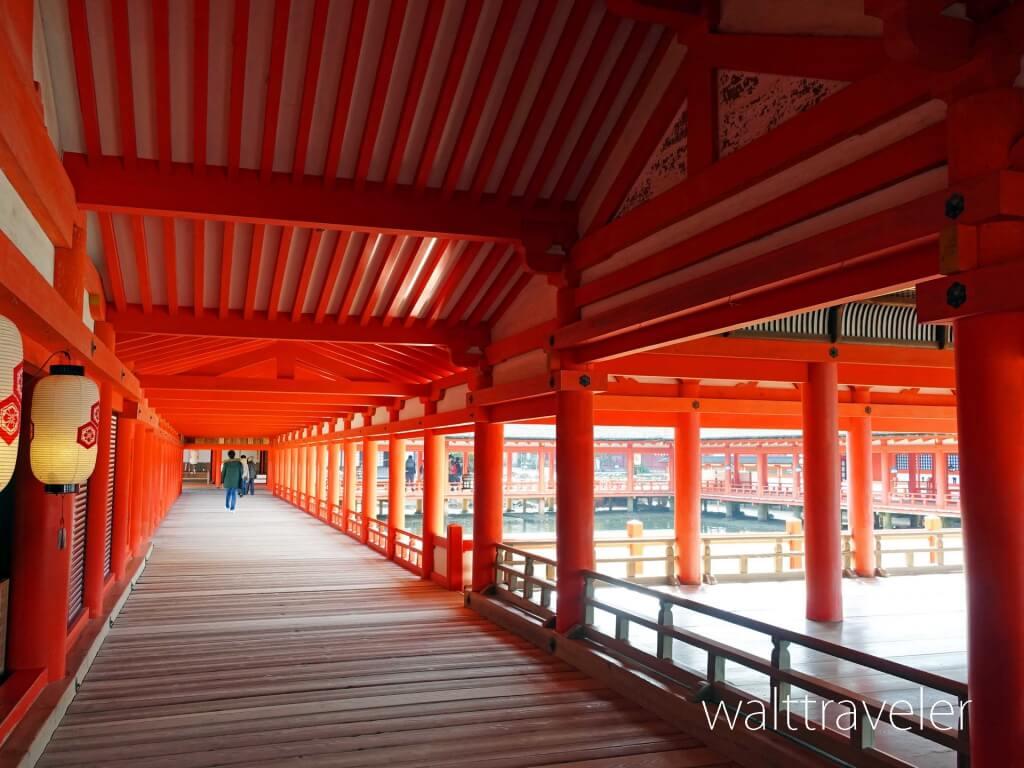 厳島神社 回廊 宮島