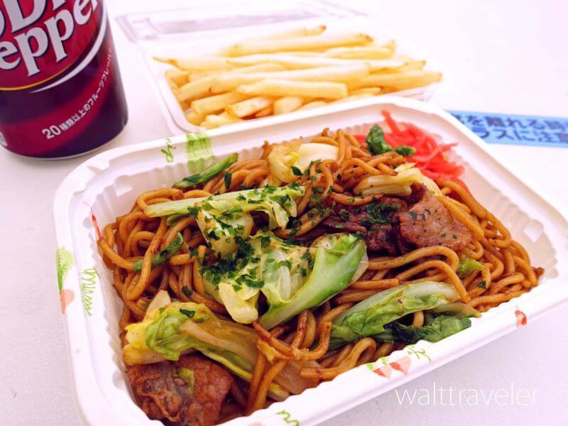 千葉市動物公園 中央広場売店 軽食 焼きそば フライドポテト