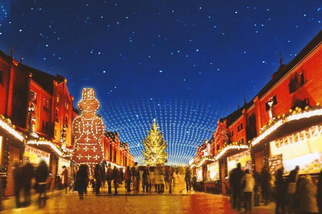 赤レンガ倉庫 イルミネーション クリスマス