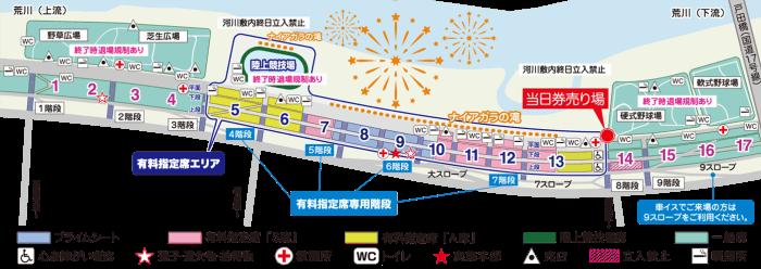 いたばし花火大会2018会場図