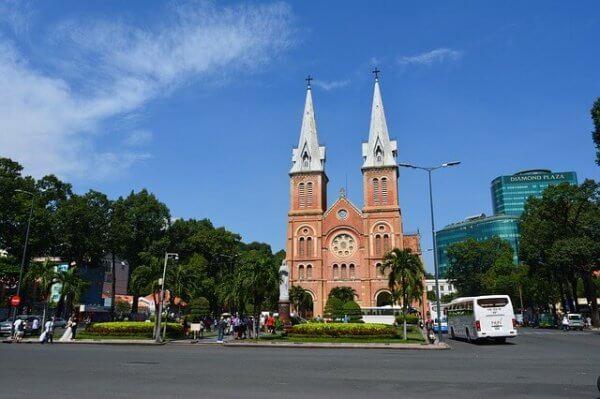 ベトナムホーチミンにあるサイゴン大教会