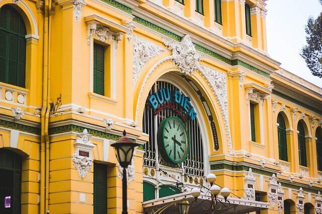 ベトナムホーチミンにあるサイゴン中央郵便局