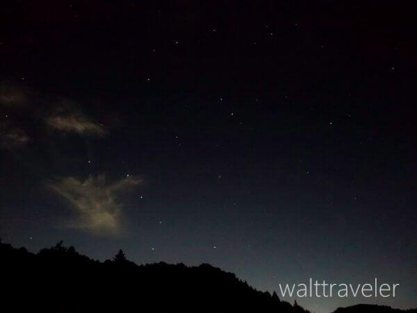 亀山湖の星空