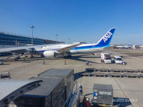 沖縄旅行 ANA ANA473 羽田→那覇 羽田空港
