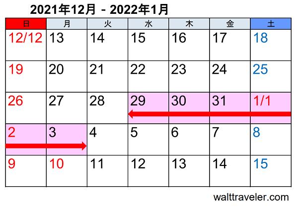 年末年始休み 正月休み 2021 2022 市役所 一般企業 カレンダー