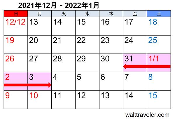 年末年始休み 正月休み 2021 2022 銀行 郵便局 カレンダー